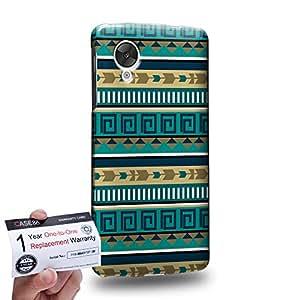 Case88 [LG Nexus 5] 3D impresa Carcasa/Funda dura para & Tarjeta de garantía - Art Carpet And Tapestry Aztec Carpet B