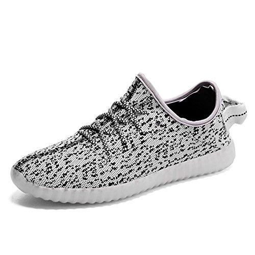 LED Casual Men's Shoes Grey Fashion Luminous Shoes qOIqnwx6f