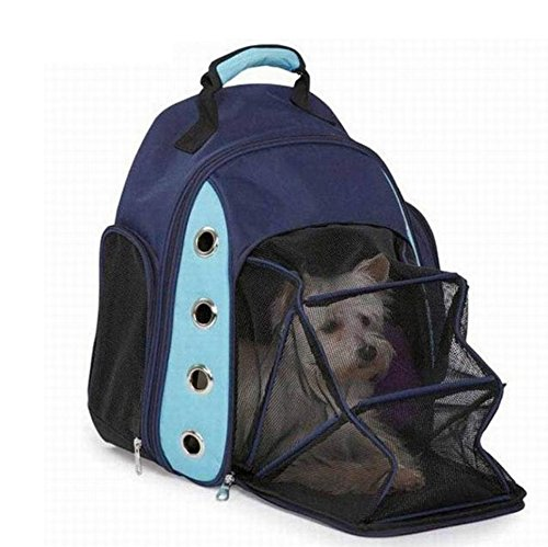 Expandable Pet Travel / Soft Sided with,Convenient Side Pockets Perfect Handbag, Open Network Window,Portable Soft-sided Bags for Dogs Cats and Other Animals (434214CM) , 1 by GJX (Image #1)