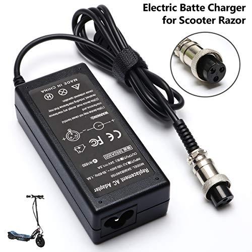 36W Electric Battery Charger for Scooter Razor E175 E100 E200 E200S ZR350 E300 Dirtbike E125 E150 E500 MX350 E225S E300S E325S MX400 PR200;Mini Chopper;Pocket Rocket;Sports Mod;Pocket Mod -