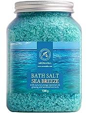 Badzout ''Sea Breeze'' 1.3kg zeezout, tegen acne - droge huid - spierpijn - vermoeidheid - huidverzorging - Aromatherapie - Anti-stress - bad - Jacuzzi - Spa - wellness - ontspanning - anti-aging