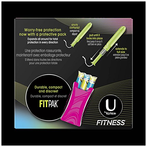 U By Kotex Unscented Super Absorbency Fitness Tampons With Fit