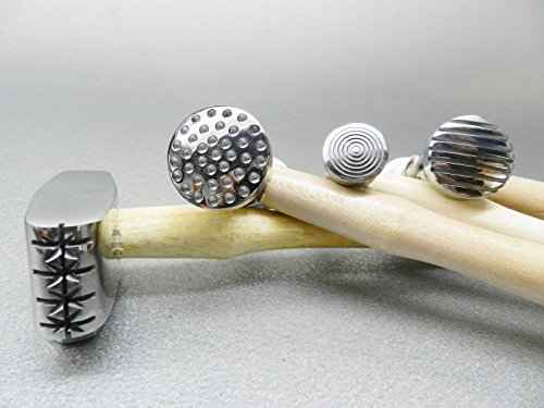 Texture Hammer Texturing Metal 4 Hammers 8 Patterns Jewelry Design Metalworking