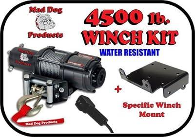 Mad Dog 4500# Winch Mount Combo Honda 2014-2018 700 / 700-4 Pioneer