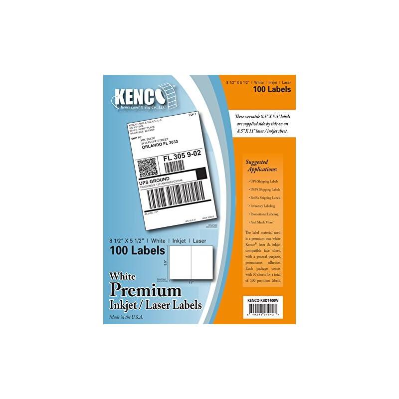 Kenco Premium White Address Shipping UPC