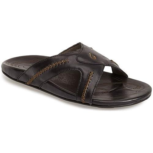d9443bb54 OLUKAI Men s MEA Ola Slide Black Black 7 D US  Amazon.co.uk  Shoes   Bags