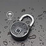Hensdd-Fingerprint-Lucchetto-Blocco-di-Sicurezza-per-Porta-Impermeabile-con-La-Chiave-Astuta-Antifurto-Adatto-Casa-Porta-Valigia-Zaino-Palestra-Bici