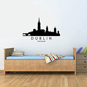 Dublin ireland city skyline vinyl wall decals quotes sayings words art decor lettering vinyl wall art