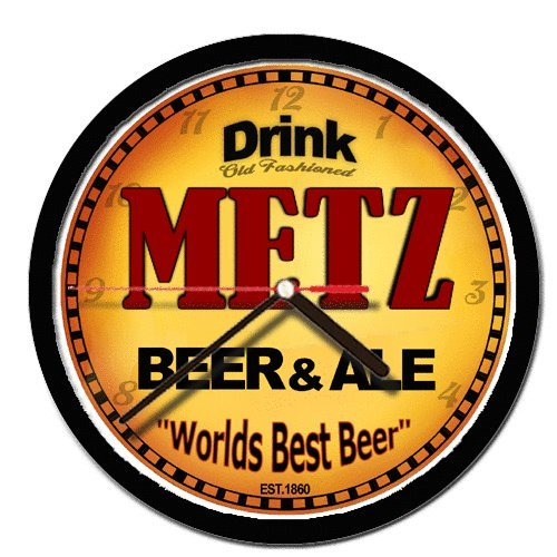 METZ beer and ale cerveza wall clock