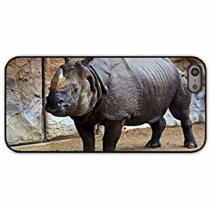 Case For Iphone 6 4.7 Inch Cover Black Hardshell Case rhino equine sand rocks reserve Desin Images Protector Back Cover