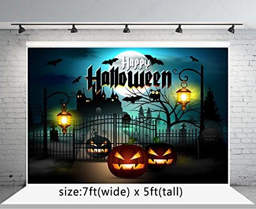 Kate 7x5 ft Halloween Backdrops Photography Pumpkin Bat Castle Photo Studio Backgrounds for Children -