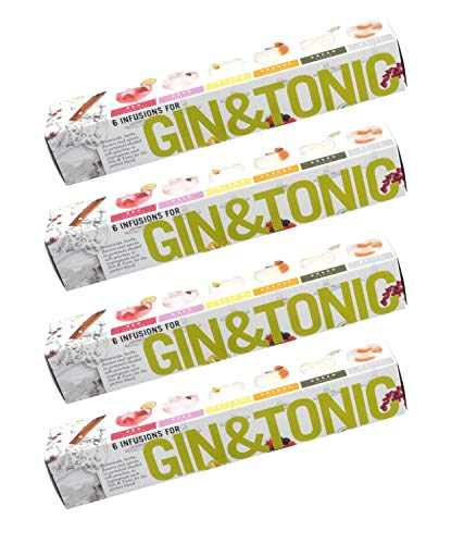 Te Tonic Gin And Tonic Box - 6 Different Flavored Gin Botanicals/Herbs Infusions Bags- Pack of 4 Cocktail Infusion Kit - Gin Gift Set For Men And Women