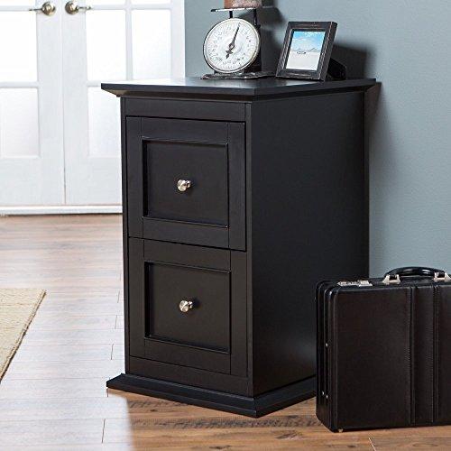Belham Living Hampton 2-Drawer Wood File Cabinet - Black