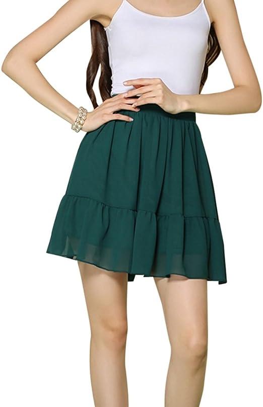 Falda Plisada Para Mujer Sólido Cintura Alta Mini Falda De Pliegues