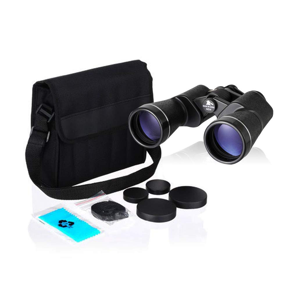 NASHICA Sprit 20 X 50 ZCF, 20 Times Binoculars, Outdoor Travel Binoculars, Water Resistant, Fully Coated Lense, 7.4'' x 6.8'' x 2.3'', Black
