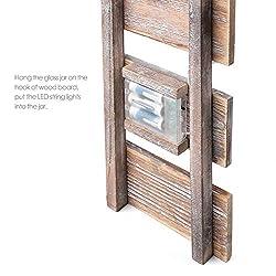 Rustic Brown Mason Jar Sconces for Wall Decor, Dec