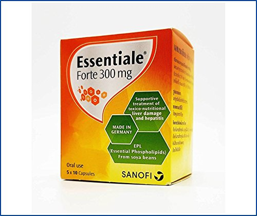 Essentiale Forte 300 MG (50 Hard Capsules in Blister) Each Capsule Contain EPL (Essential Phospholipids from Soya-Bean) 300 MG, A Preparation Supplement for Liver Care and Revitalize Review
