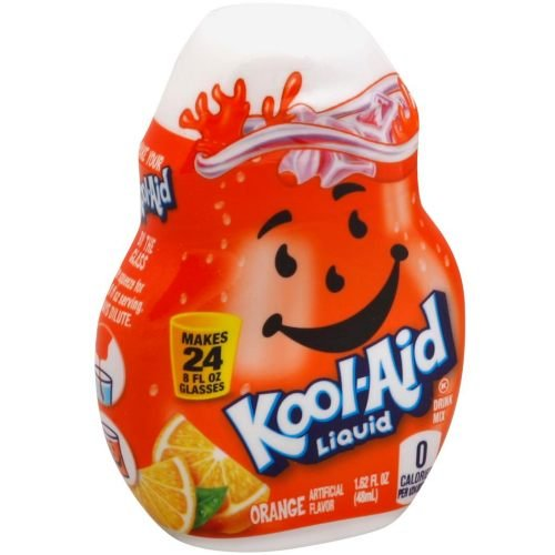 Kool Aid Orange Liquid Concentrate Drink Mix, 1.62 Fluid Ounce -- 12 per case.