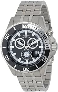 Invicta Men's 13648 Pro Diver Chronograph Black Dial Stainless Steel Watch