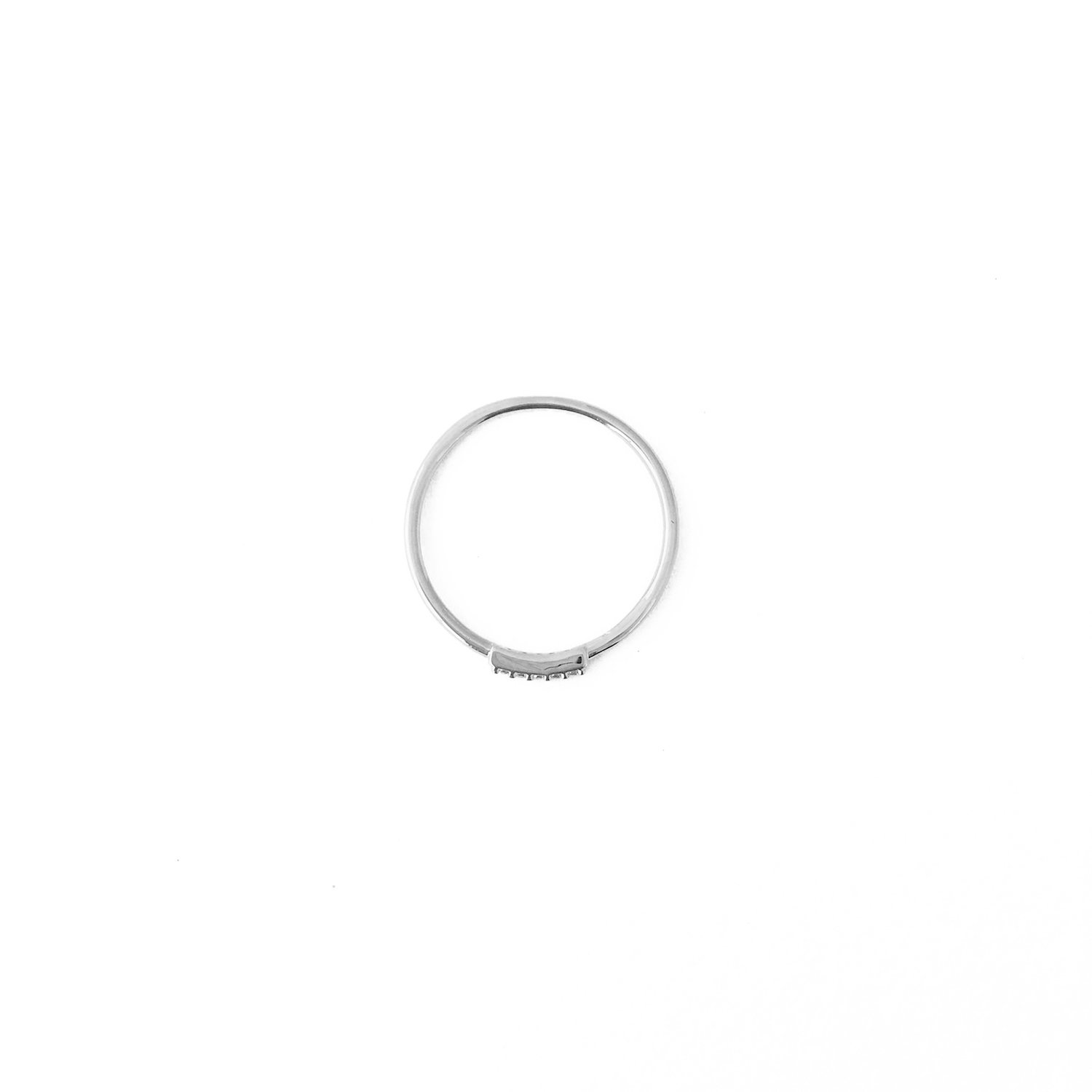 HONEYCAT Mini Crystal Row Ring in Sterling Silver Plate | Minimalist, Delicate Jewelry (Silver 8) by HONEYCAT (Image #1)