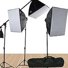 Fancierstudio 3800 Watt Softbox Video Lighting Kit Light Kit With Carrying Case By Fancierstudio 9060SB4