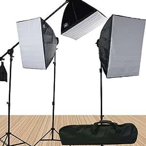 Fancierstudio FL9060S4 3800 Watt Softbox Video Lighting Kit Light Kit With Carrying Case