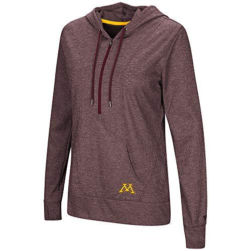 Colosseum Minnesota Golden Gophers Women's Sugar 1/2 Zip Thermal Hoodie T-Shirt (M)