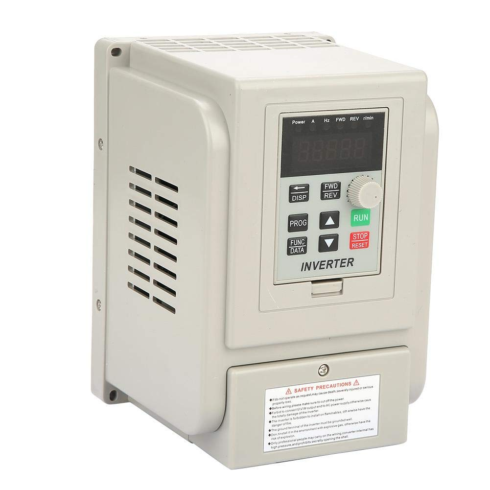 3HP 2.2kW AC 220V Single-Phase VFD Drive Inverter Single to 3 Phase Professional Variable Frequency Drive Speed Controller AT1-2200X for 3-Phase 2.2kW AC Motor