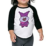 Kids Chowder Toddler Boys Girls 3/4 Sleeve Raglan Tshirt 100% Cotton