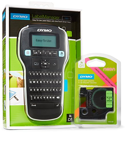 DYMO LabelManager 160 Label Maker with 2 BonusD1 Black on (Dymo Labelmanager Pc)