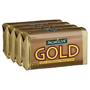 Palmolive Gold Bar Soap Daily Deodorant Protection 4 x 90g