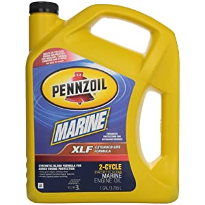 Pennzoil 550022771-3PK XLF Marine Synthetic Blend Engine Oil - 1 Gallon, (Pack of 3)