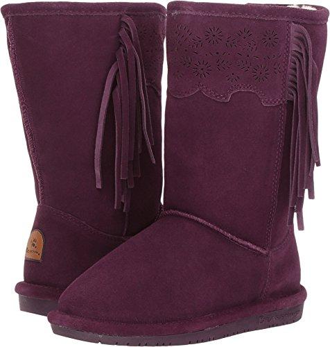 BEARPAW Girls' Tallulah Fashion Boot, Plum, 4 M US Big Kid