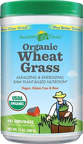Amazing Grass organique herbe de blé en poudre, 60 portions, 17-oz Récipient