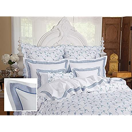 St Georges Sheet Sets Queen 1 Flat 1 Fitted 2 Std Shams Blue