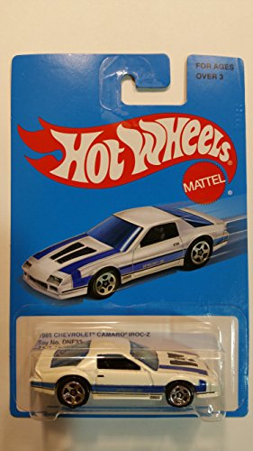 Hot Wheels Mattel 1985 Chevrolet Camaro Z28 IROC-Z White & Blue - Collectible Limited Edition Retro 2015 Series [1 of 8] #DNF32-D910
