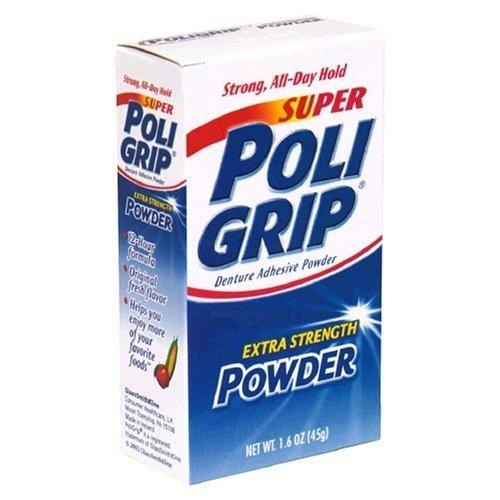 Poligrip Super Denture Adhesive Powder, Extra Strength 1....