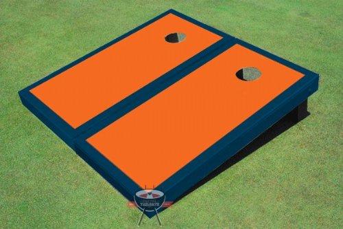 オレンジとネイビーMatching B00CLVB6HM Border Corn穴ボードCornhole Game Set Border Set B00CLVB6HM, Shimadaya HOME&LIFE:235368a0 --- gamenavi.club