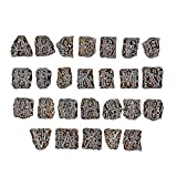 PARIJAT HANDICRAFT Wooden Blocks Printing Stapms A to Z (Set of 26) Hand-Carved for Saree Border Making Pottery Crafts Textile Printing