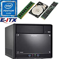 Shuttle SH110R4 Intel Pentium G4600 (Kaby Lake) XPC Cube System , 4GB DDR4, 120GB M.2 SSD, 1TB HDD, DVD RW, WiFi, Bluetooth, Pre-Assembled and Tested by E-ITX