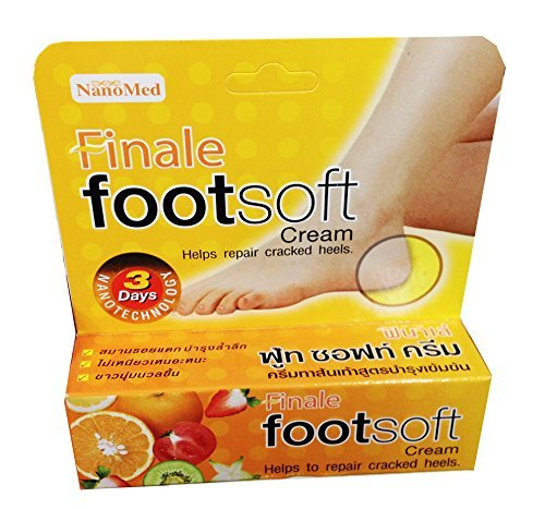 NanoMed Finale Footsoft Cream helps to repair cracked heels.It contains a highly effective moisturizing compound, and a skin softener and a skin protectant 1.0oz
