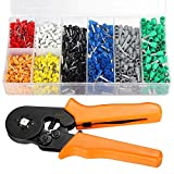 Sopoby Ferrule Crimping Tool with 800pcs Wire Ferrule Terminals Kit Insulated, 0.25-6.0mm², AWG 22-10, Crimp Tool Kit