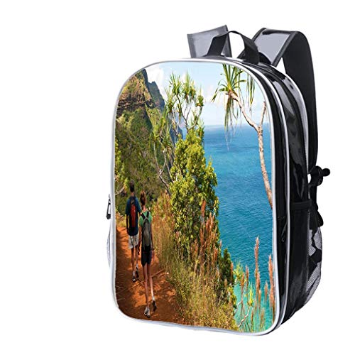 (High-end Custom Laptop Backpack-Leisure Travel Backpack Kauai Vacation and Kalalau Trail Water Resistant-Anti Theft - Durable -Ultralight- Classic-School-Black)