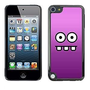 Paccase / SLIM PC / Aliminium Casa Carcasa Funda Case Cover - Funny Funny Face - Apple iPod Touch 5