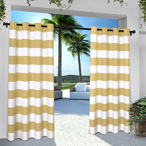 indoor stripe cabana grommet window