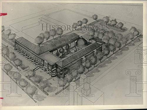Vintage Photos 1988 Press Photo Architect's Drawing of Proposed Civil Rights Museum, Birmingham