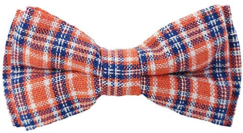 (Flairs New York Little Gentleman's Kids Bow Tie (Pumpkin Orange/Blue [Tweed]))