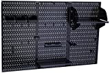 Wall Control 30-WRK-400 BB Pegboard Organizer Metal Standard Tool Storage Kit Accessories, 4', Black/Black