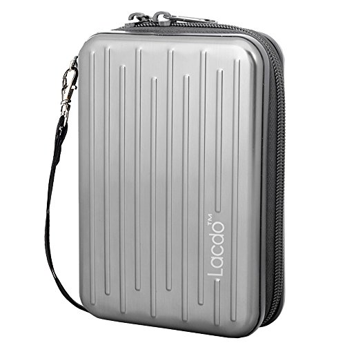 Lacdo Anti-Shock Aluminium Protective Carrying Case for 2.5-Inch Portable Hard Disk Drive (Hard Protective Carrying Case)