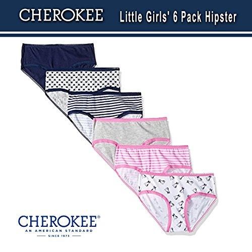 Cherokee Little Girls 6 Hipster, Navy/LT Heather Grey asst Pack, (Best Cherokee Underwear)